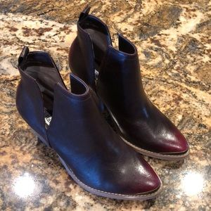 Ankle Boots Burgundy/brown ombré